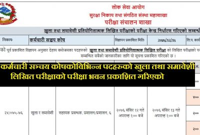 Exam Center Details Published By Employment Provident Fund (EPF)