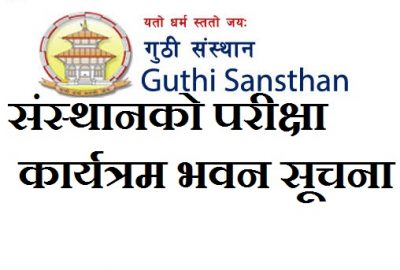 Exam Center & Schedule Published By Guthi Sansthan Nepal