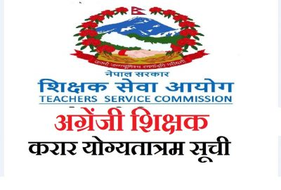 English Teacher Contract Agreement (Merit List) Published By Teacher Service Commission