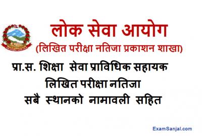 Pra Sa Prabidhik Sahayak Result Published By Lok Sewa