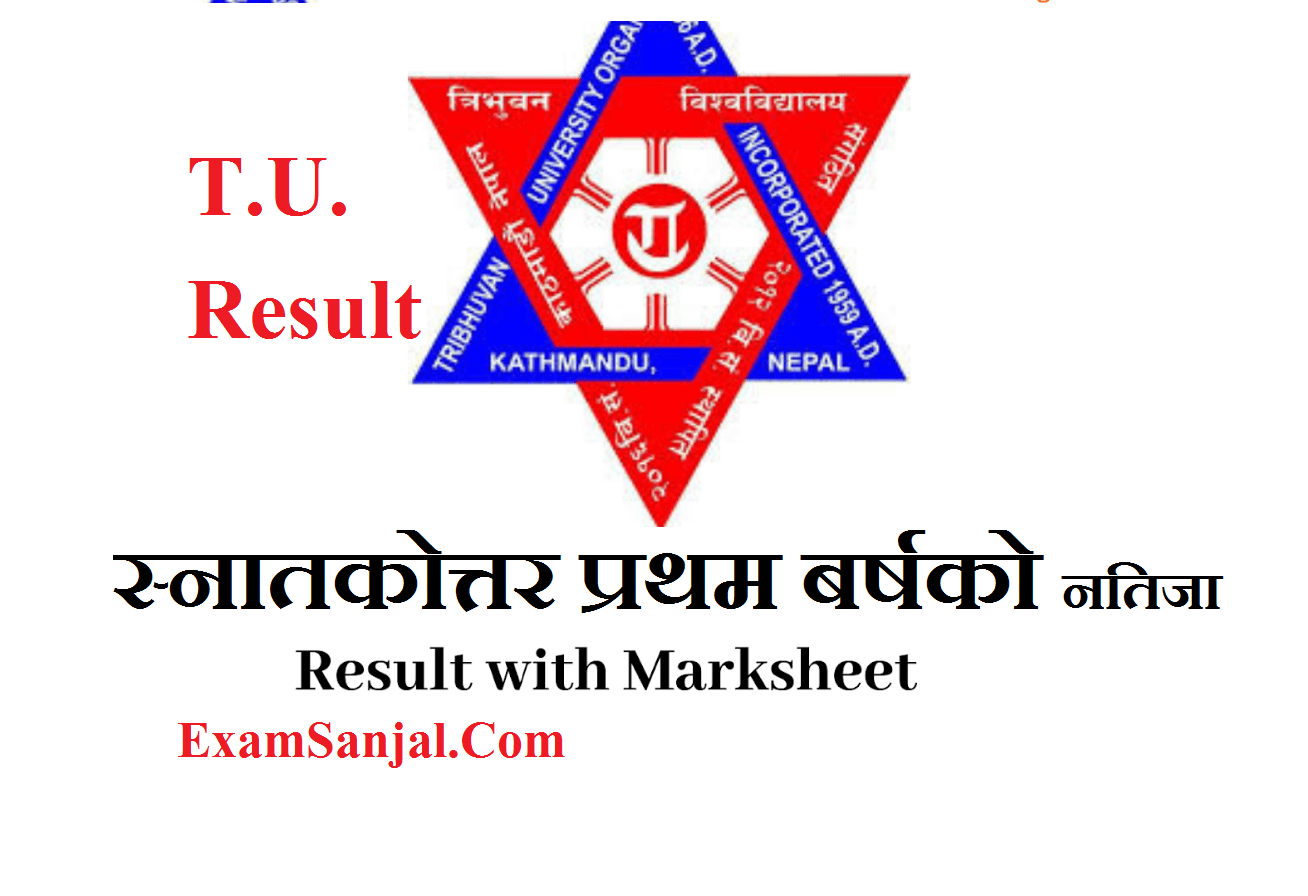 M.A. Economics First Year Result Published By T.U. ( MA Economics First Year Result)