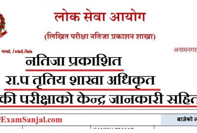 Section Officer Adhikrit Result by Lok Sewa ( Sakha Adhikrit Result Natija Loksewa)
