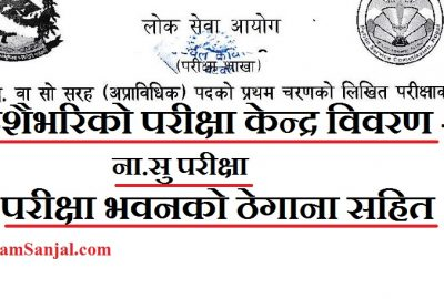 Na Su Exam Center all Nepal by Lok Sewa ( Nayab Subba Exam Center Lok Sewa )