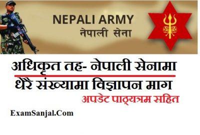 Nepal Army Officer Cadet Vacancy Notice ( Adhikrit Cadet Vacancy by Nepal Army)