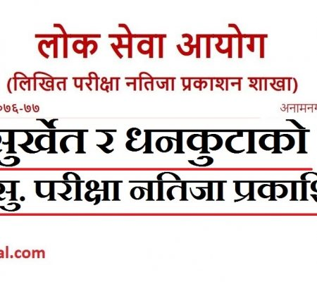 Na Su Result of Surkhet & Dhankuta by Lok Sewa ( Na Su result)