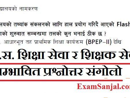 Pra Sa Shiksha Sewa, Shikshak Sewa Exam Imp Questions Answers