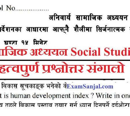 SEE Exam 2076 Important Model Questions Social