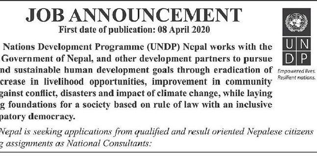 UNDP Job Vacancy Announcement Notice Job Vacancy UN
