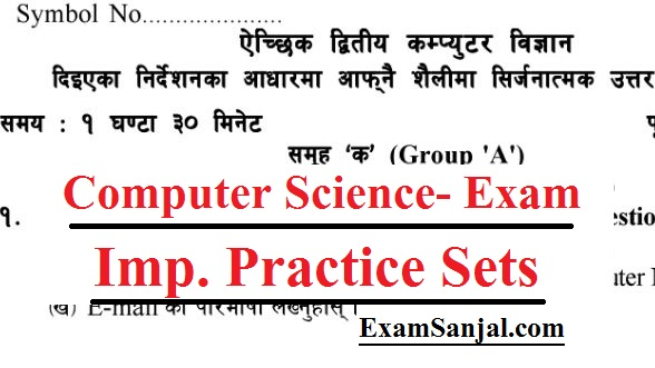 SEE Exam Model Questions Computer Science