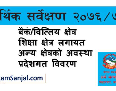 Economic Survey 2076/77 Nepal published by Ministry of Finance