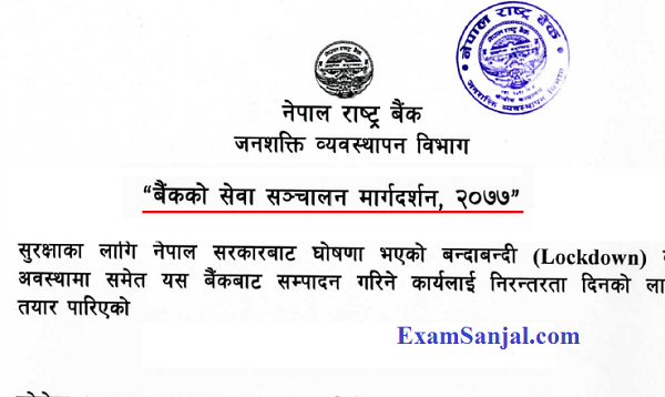 Nepal Rastra Bank NRB Guideline for Banking Service Operation