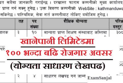 Kathmandu Upatyaka Khanepani Ltd Vacancy Notice