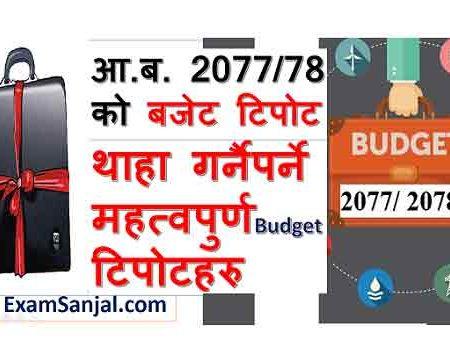Nepal Budget 2077 78 Details information Lok Sewa Tayari