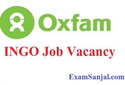 Oxfam INGO Recent Job Vacancy in Nepal