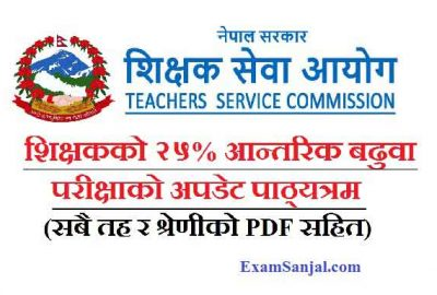 Teacher Internal Promotion Exam Syllabus by TSC