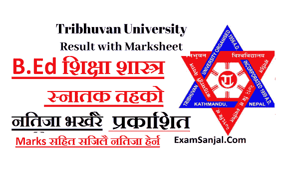 TU Result B.Ed first Year result published by TU