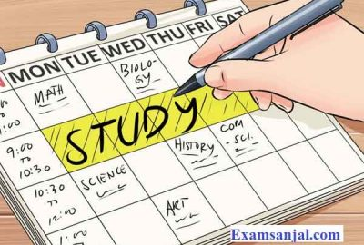 University Class Contact Sessions routine schedule by NOU