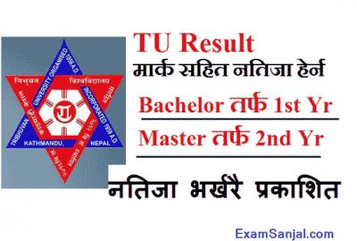 TU result published Bachelor & Master Level Result TU