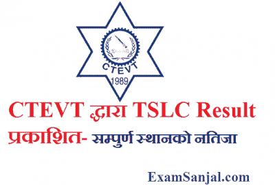 TSLC result by CTEVT Electrical Mechanical Engineering & Water supply