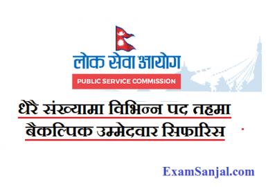 Lok Sewa Aayog Baikalpik Candidate Appointment Notice