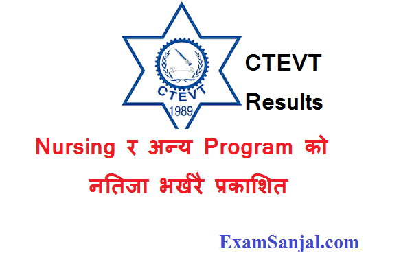 CTEVT Nursing Results with Food Technology & Re total results