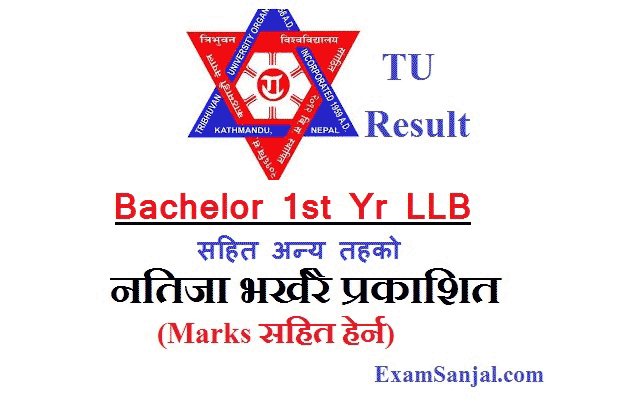 TU Result Bachelor Level 1st Year LLB & Other TU Results