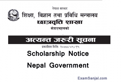 Scholarship Notice by MOEST for Bsc Ag & Bsc Forestry