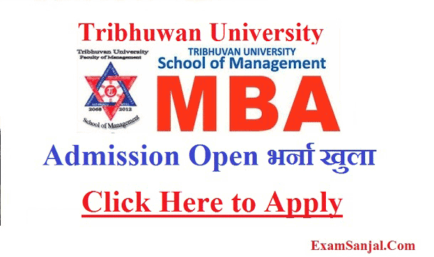 TU MBA Admission Notices Master in Business Administration