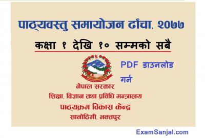 New Curriculum Framework for Class 1 to 10 Naya Pathyakram CDC
