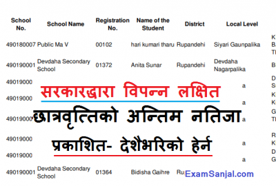 Poor targeted scholarship result Bipanna Lakshik Chhatrabritti