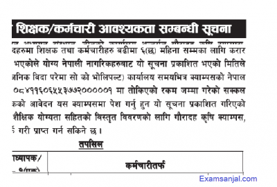 Teacher Asst Lecturer & staff vacancy notices by Tribhuwan Unviersity