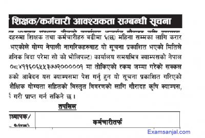 Teacher Asst Lecturer & staff vacancy notices by Tribhuwan Unviersity