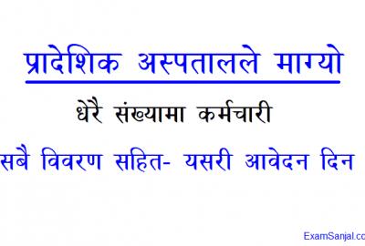 Lumbini Province Pradesh Hospital Health Service Job Vacancy Nepal