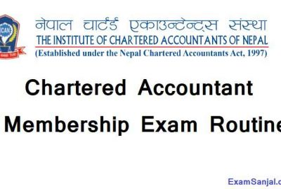Chartered Accountant CA Membership Exam Routine by ICAN CA Exam