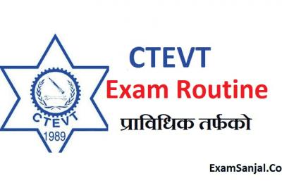 CTEVT Exam Routine of Diploma Engineering & Biomedical equipment engineering