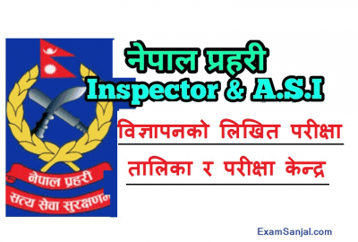 Nepal Police Inspector & Sub Inspector Vacancy written exam routine