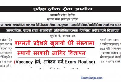 Bagmati Pradesh Lok Sewa Aayog Government Job Vacancy Notice & Exam Routine