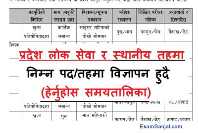 Pradesh lok sewa aayog & local level vacancy routine schedule Bagmati Pradesh