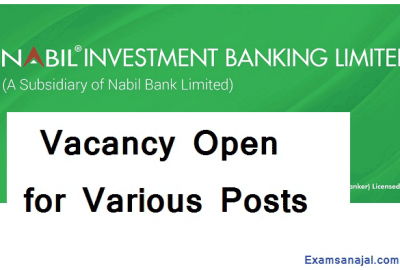 Nabil Investment Banking Job Vacancy Notice for Various Posts