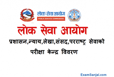 Lok Sewa Section Officer Adhikrit Exam center Butwal Surkhet Kathmandu