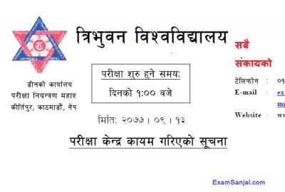 TU Exam Center of Bachelor Level BBA BBM BPA BHM BTTM BIM & BBA F