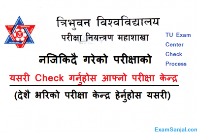 TU Bachelor BBS, BED, BA & BSC Exam Center Checked