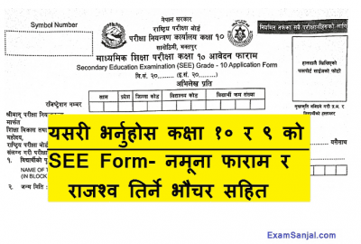 How To Fill Class 10 SEE Exam Application & Class 9 Registration Form