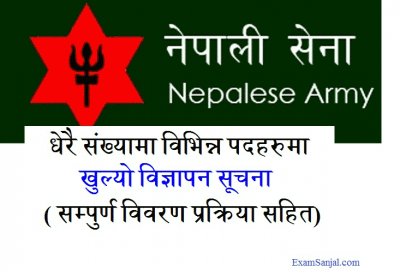 Nepal Army Job Vacancy Notice in Various Posts Nepali Sena Vacancy