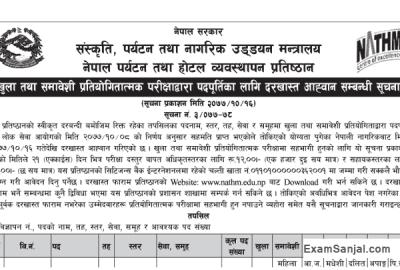 Nepal Academy of Tourism & Hotel Management NATHM Vacancy Notice