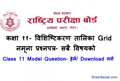 NEB Class 11 Model Questions Set Paper & Specification Grid