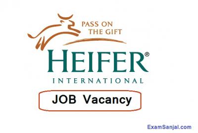 HEIFER International Project Nepal Job Vacancy Notice