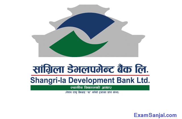 Shangrila Development Bank Job Vacancy Notice Online Apply