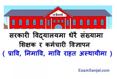 Teacher Vacancy Notice by Community Government School Teacher Job