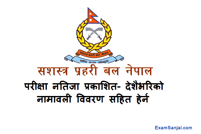 Armed Police Force APF Jawan Result Published Sasastra Prahari